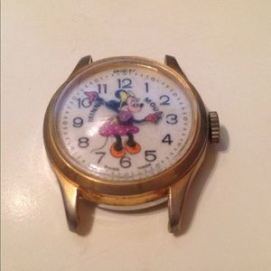 Other - 💕Cute Vintage Bradley Minnie Mouse Watch, Swiss
